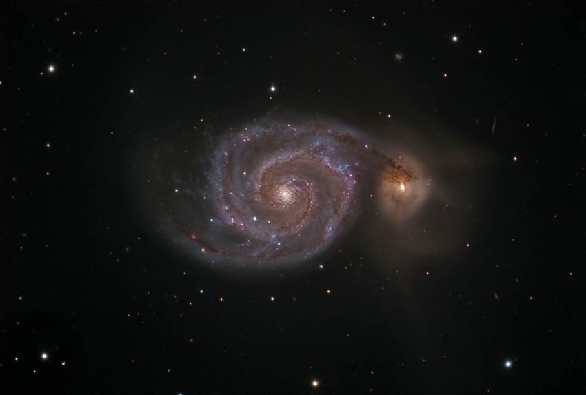 <b>M51 - The Whirlpool Galaxy</b>